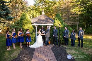 Fall gazebo wedding ceremony