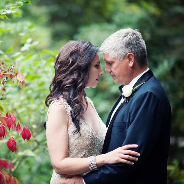 Wedding Couple Fall Foliage