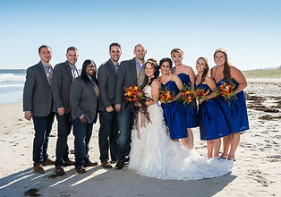 Wedding party at the coast