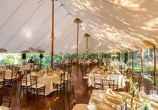 Private event and wedding tent reception