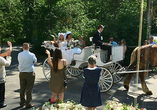 Bride arriving by carriage