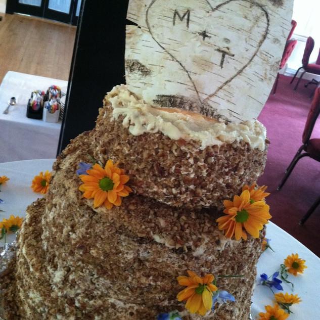 Wood Grain Wedding Cake