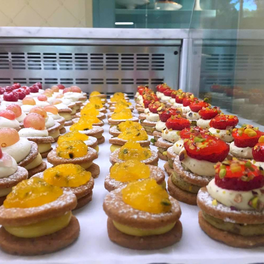 the selection of mini pastries