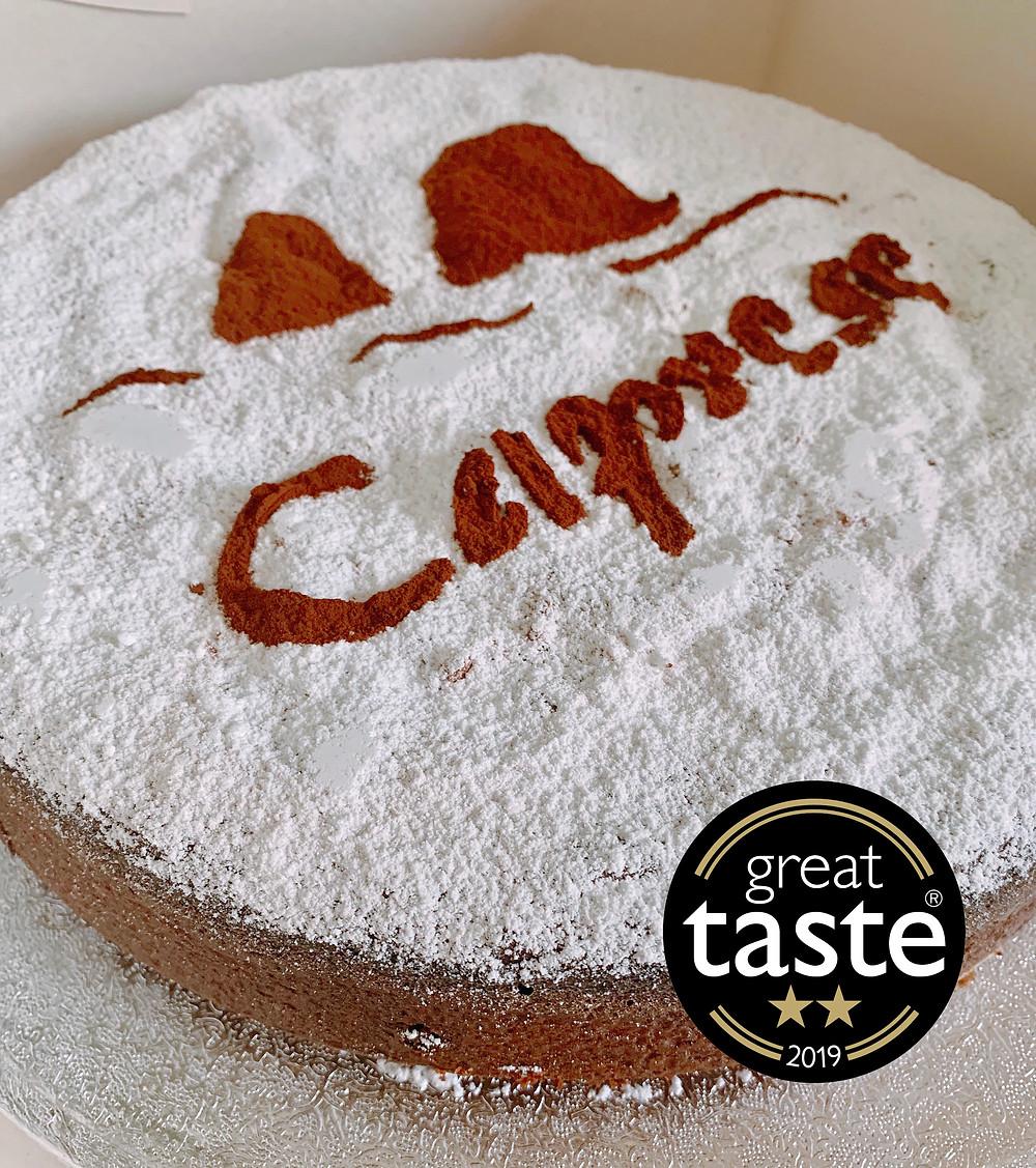 Caprese cake awarded with 2 gold stars