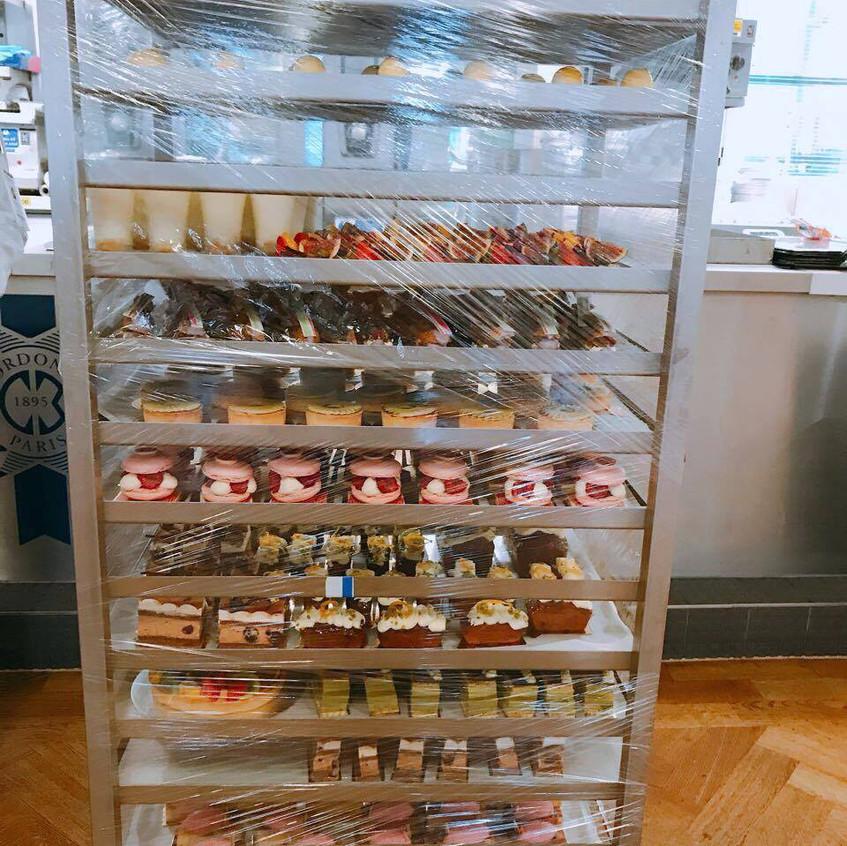 trolleys full of pastries!!