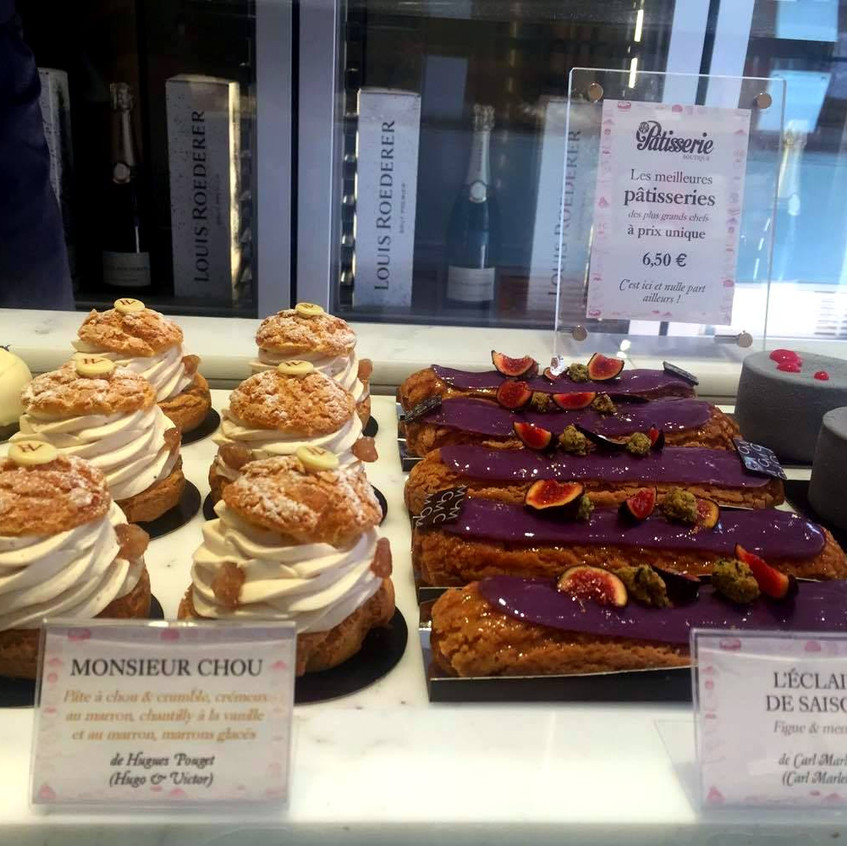 some of the pastries to choose