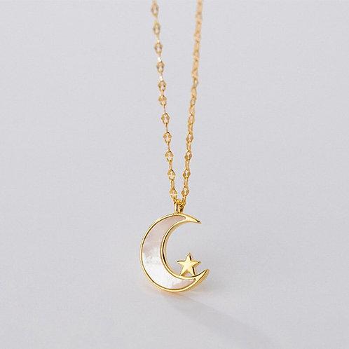 Moon & Star 925 Silver
