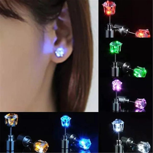 Square LED earrings ( different colors)
