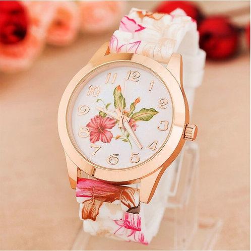 Printed Flower  Quartz watch