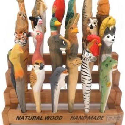 Natural wood handmade pens