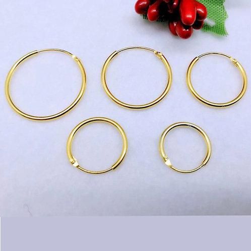 'Gold' hoop earrings