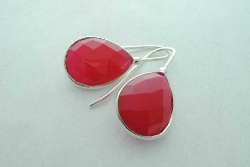 925 Silver earrings with pinktourmaline