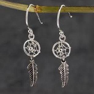 925 Silver ' Dreamcatcher' earrings