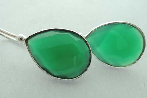 925 Silver earrings with Green Aquamarine