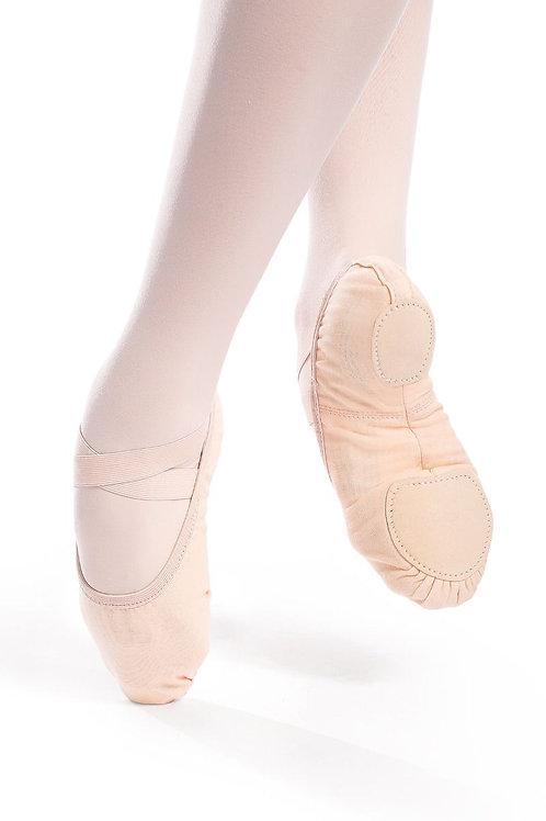 Vegan Stretch Canvas Split Sole Ballet Slipper