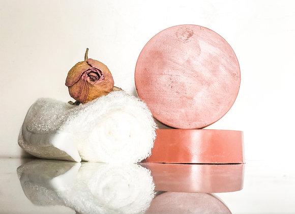 Rose Clay Natural Face Soap - Pink Light Bar Soap