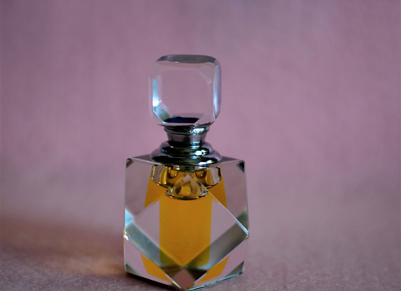 Valentine's Day Gift -Faceted Crystal Serum Decanter with Immortelle Serum