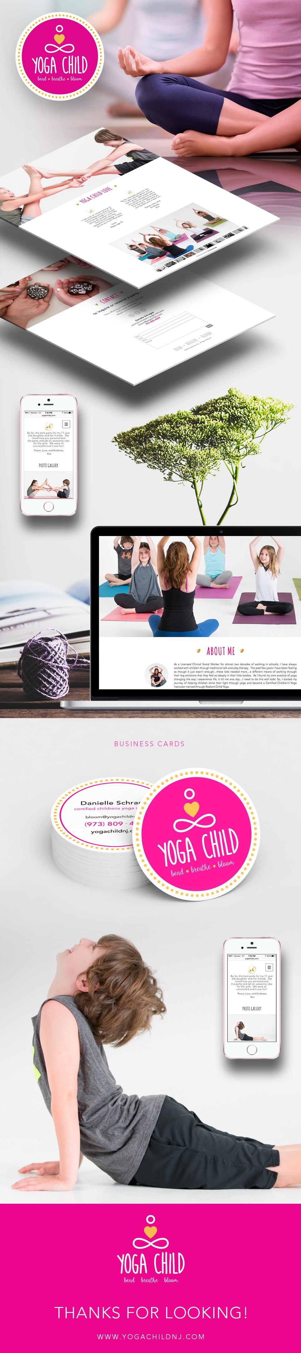 Yoga Child brand identity