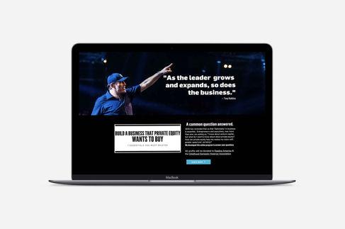 Website for Tony Robbins