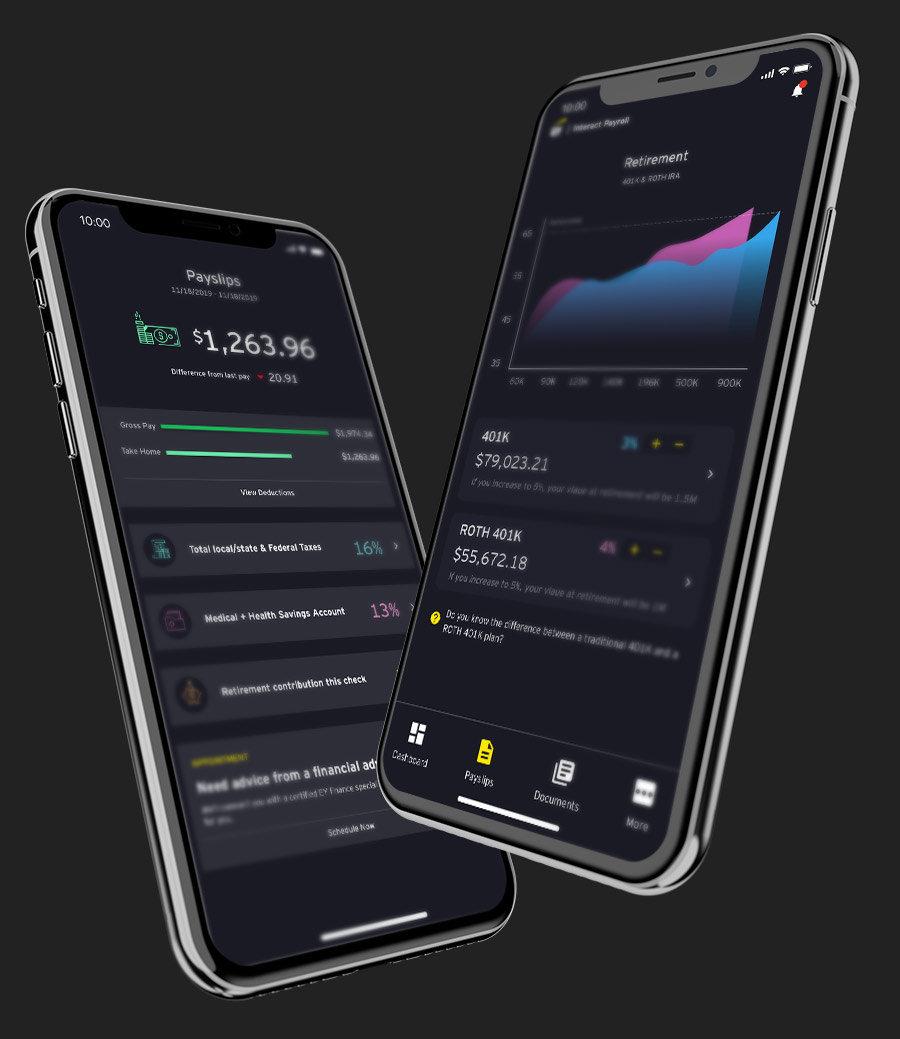 Mobile app design concept portfolio image