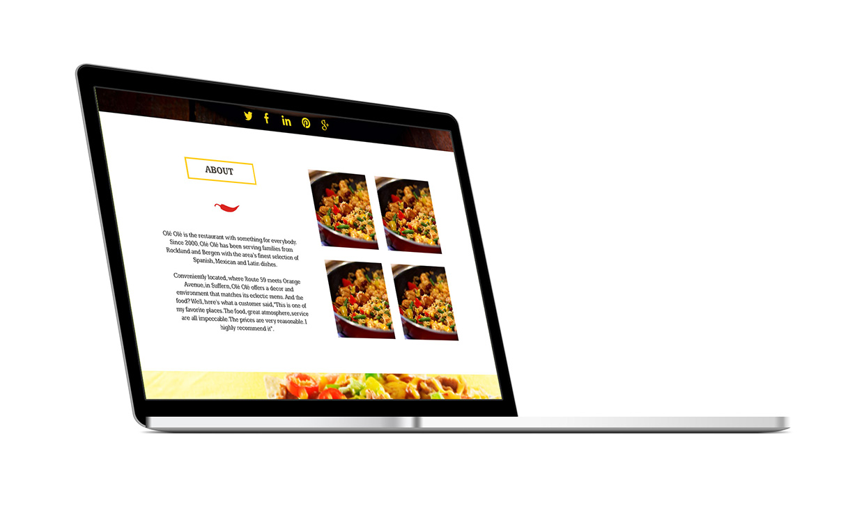 Olé Olé Website Redesign