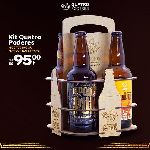 Kit 4 Cervejas/Taça no Engradado