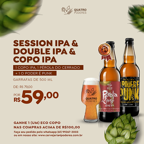 Session IPA, Double IPA &  Copo IPA