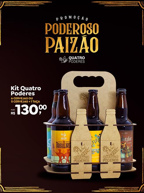Kit 6 Cervejas/Taça no Engradado