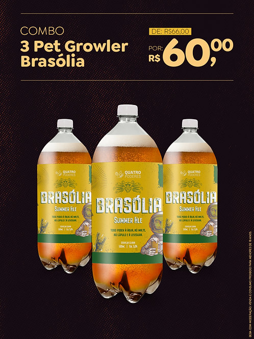 Brasólia - Summer Ale - Growlers PET - 3 unidades de 1 L