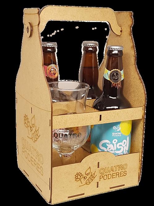 Kit 5  - Taça de Vidro + 3 Cervejas
