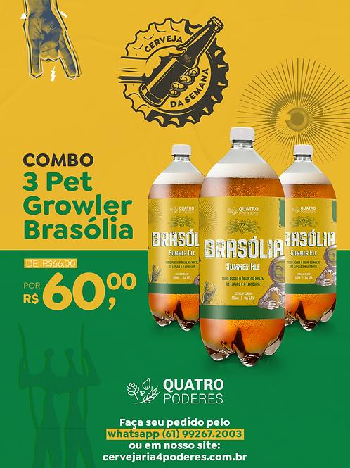 Brasólia - Summer Ale - Growlers PET - 3 unidades de 1 L