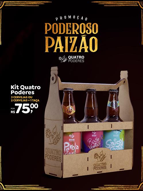 Kit 3 Cervejas/Taça no Engradado