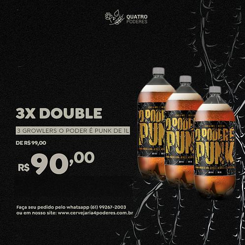 3X DOUBLE - O Poder É Punk