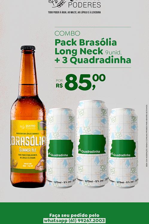 Combo 9-Pack Brasólia Long Neck + 3 Quadradinhas
