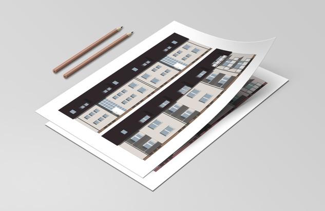 Architekturzeichnung 2D