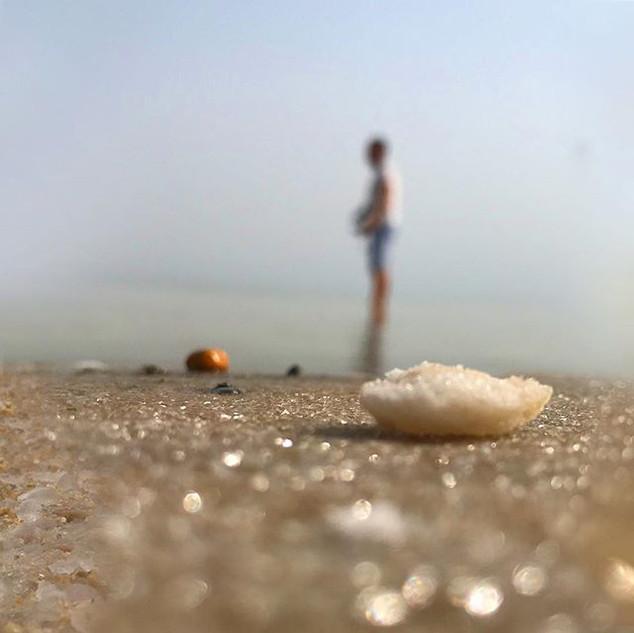 צולם בנייד בסדנה שהנחתי בים המלח