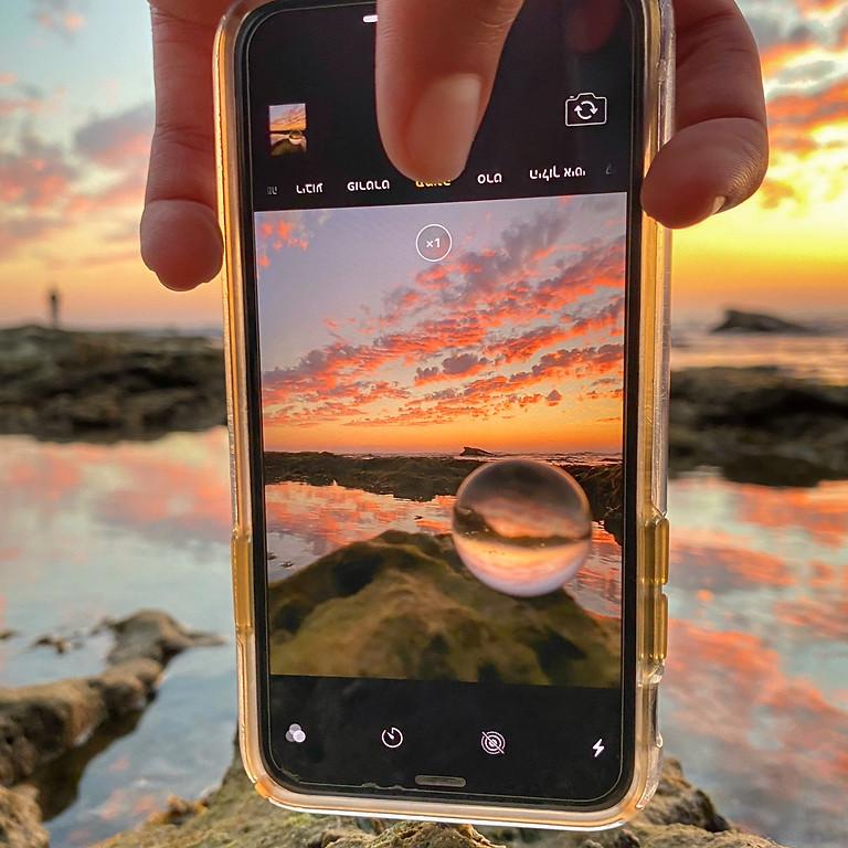 להזיז את העננים- סדנת צילום בנייד בשקיעה
