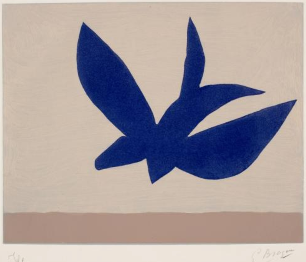 george braque blue bird color lithograph