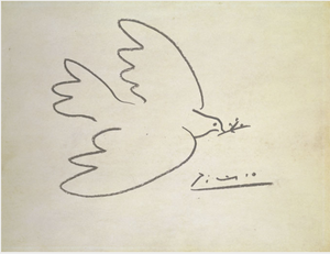 Dove of peace by pablo picasso inspired by Henri Matisse's doves