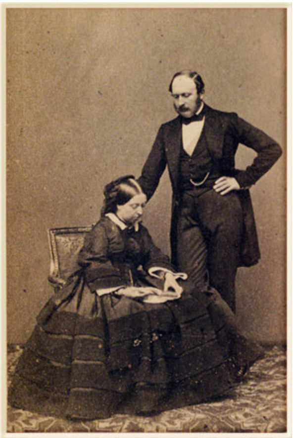 J.E. Mayall, The Queen and Prince Consort Carte de visite