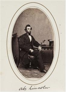 Abe Lincoln Carte de visite