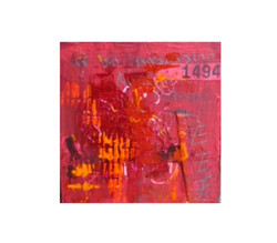 red abstract cube