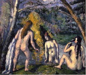 Paul Cezanne three bathers painting