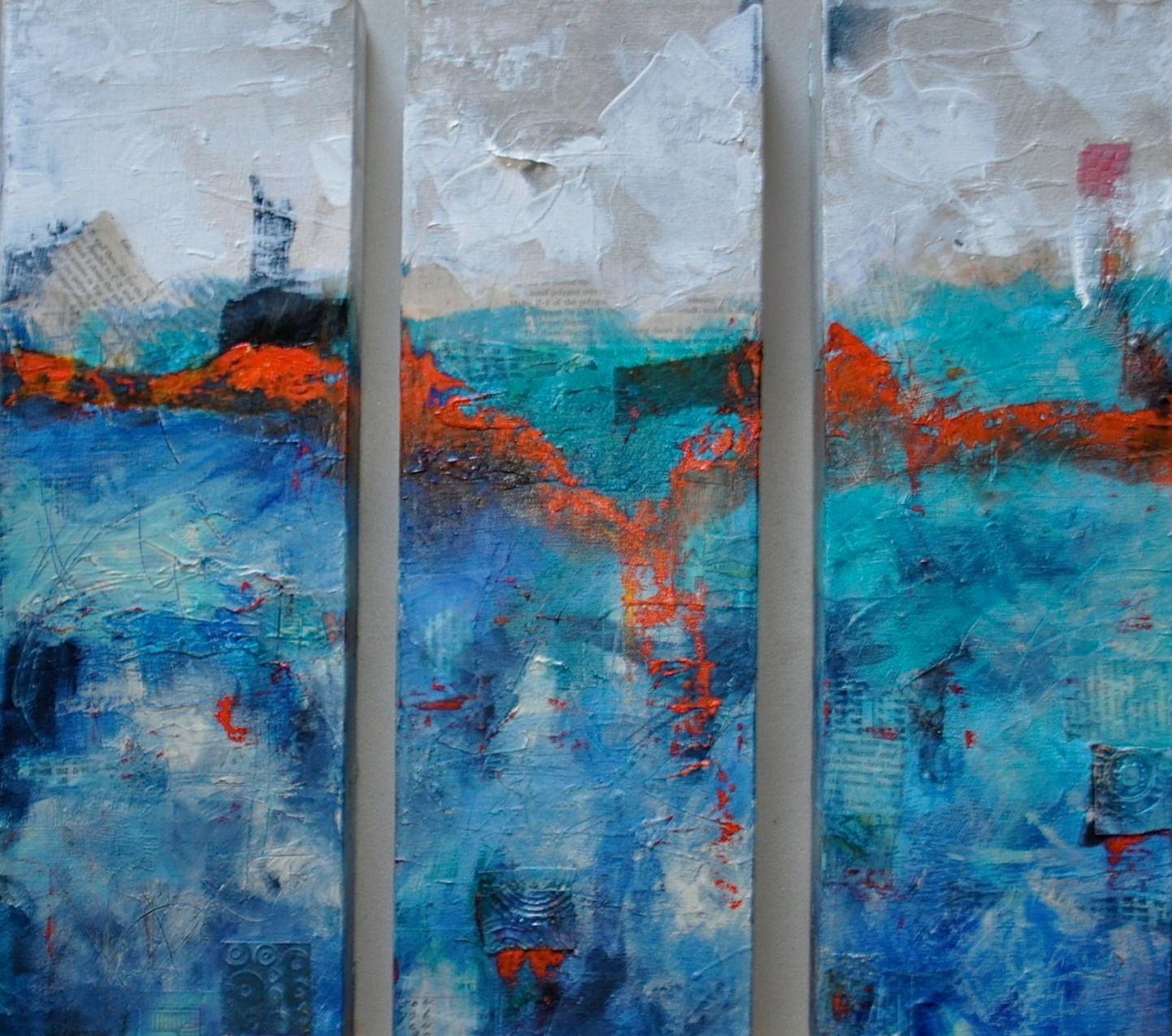 Seascape triptych