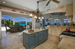 Kitchen right by pool