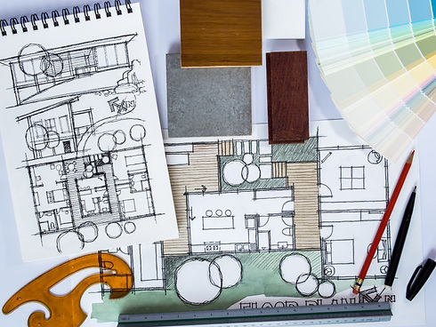 Concept of  home renovation with archite