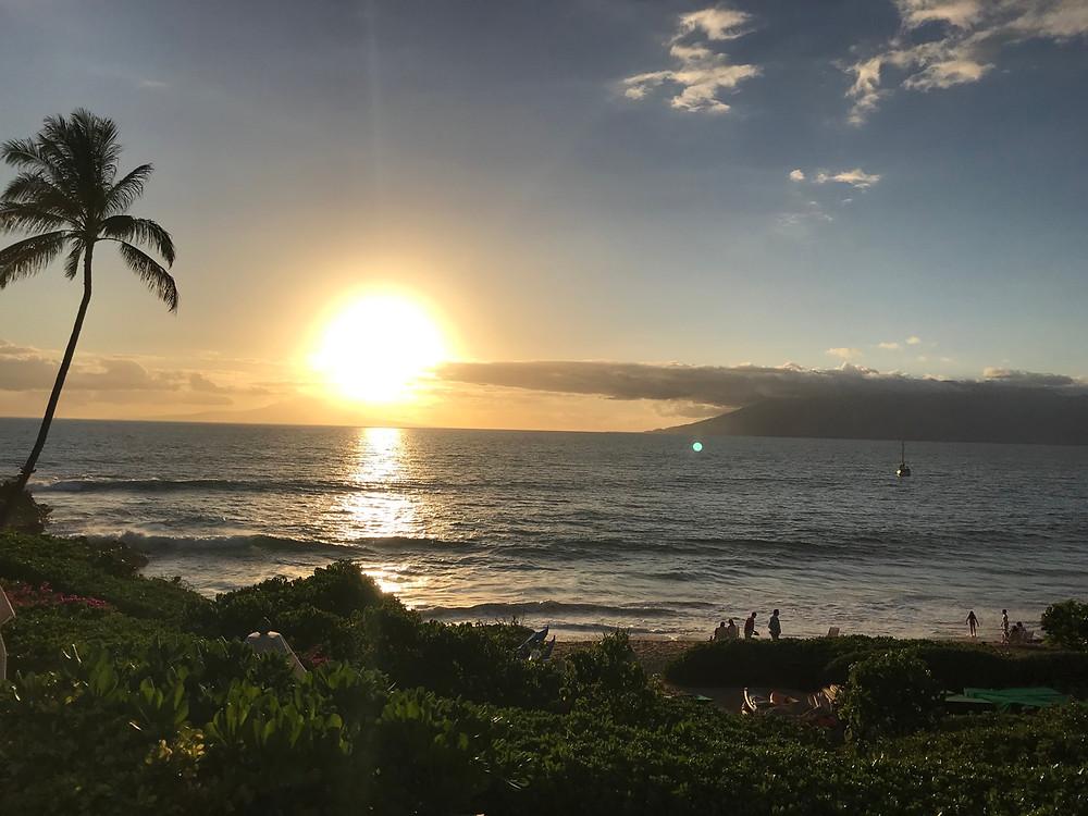 Sunset beach views