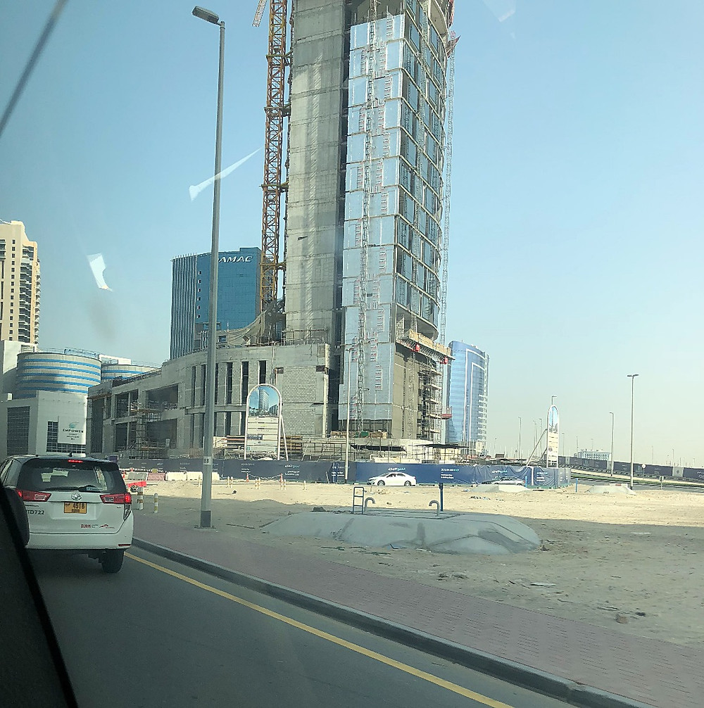 One of the many buildings in mid construction in Dubai