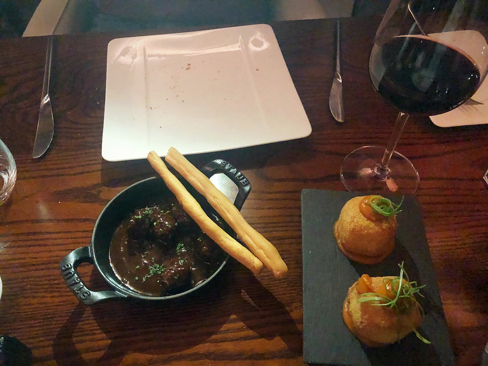 Chorizo Meatballs and Seafood Croquettes
