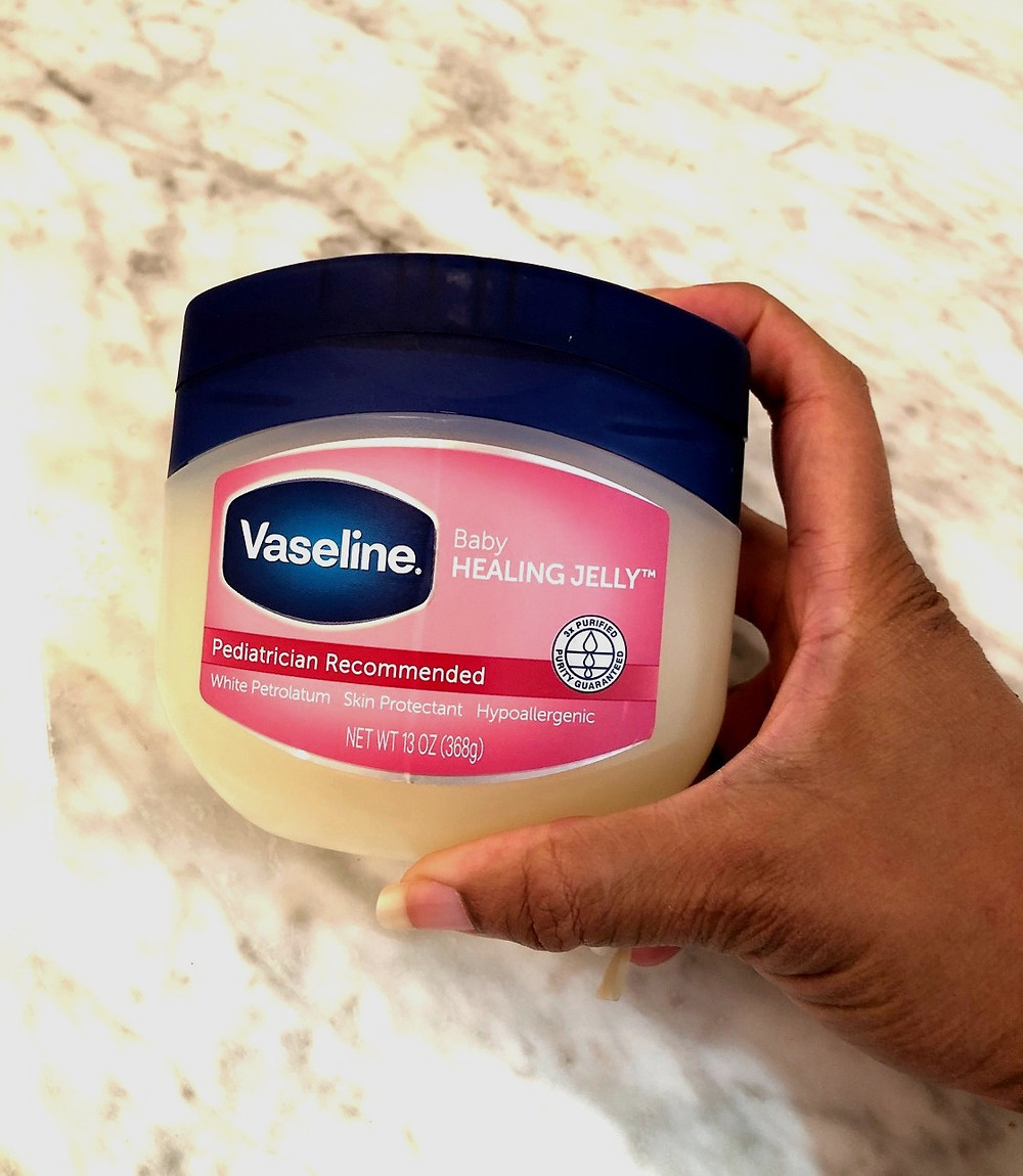 Vaseline that I use to coat my lips and keep them from drying out